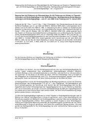 Satzung über die Erhebung von Elternbeiträgen ... - Stadt Wesseling