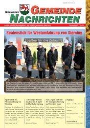 Amtliches Mitteilungsblatt der Marktgemeinde Sierning