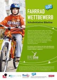 """Infoblatt """"BIKEline"""" - Tiroler Fahrradwettbewerb"""