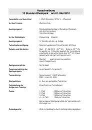 Ausschreibung 12 Stunden Rheinpark am 01. Mai 2010