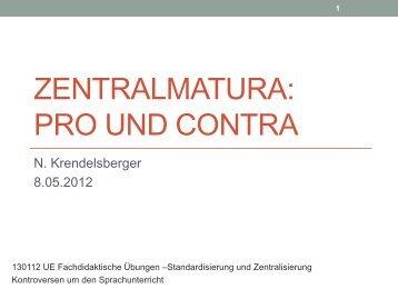 Zentralmatura: Pro Und Contra