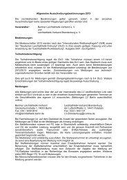 Allgemeine Ausschreibungsbestimmungen 2013 Die ...