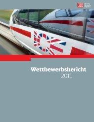 Wettbewerbsbericht 2011 - Deutsche Bahn AG