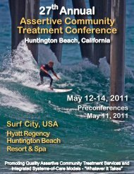 27 Annual - Assertive Community Treatment Association