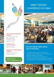DSF CONFERENCE BROCHURE - Direct Selling Festival