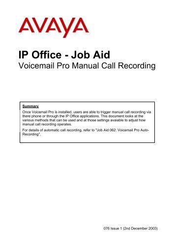 ip office voicemail pro eta and pos avaya support rh yumpu com avaya voicemail pro user guide ip office ipo voicemail pro user guide