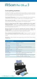 IRIScan™ Pro Office 3 : ID card : English - IRIS Marketing Tools