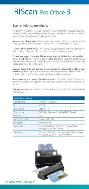 Iriscan Pro Office 3 Id Card English Iris Marketing Tools
