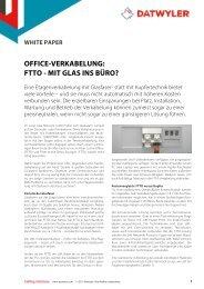 OFFICE-VERKABELUNG: FTTO - MIT GLAS INS BÜRO? - Dätwyler