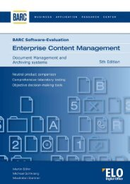 BARC-Software-Evaluation Enterprise Content ... - ELO Digital Office