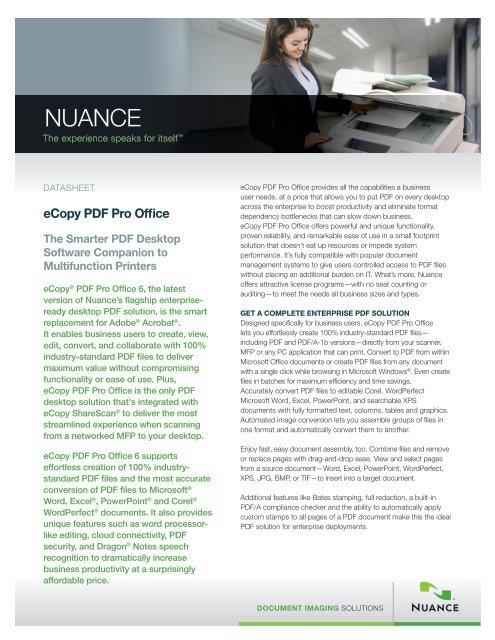 eCopy PDF Pro Office - Nuance