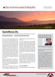 Der kommunale Einkäufer - Ausgabe 05/2011 - GemNova