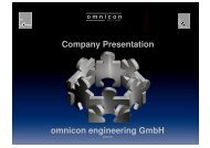 Company Presentation omnicon engineering GmbH