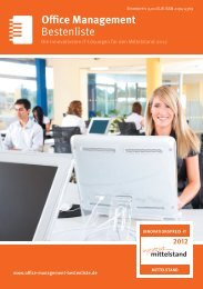 Bestenliste Office Management - IT-Bestenliste