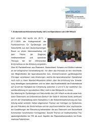 Endometriose Intensivworkshop 2009