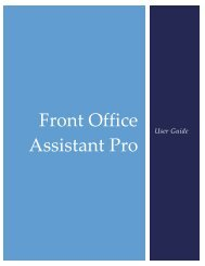 Pro User Guide - Front Office Assistant Developed by RIIS