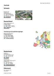 Vertrieb Schweiz Deutschland Niederlande ... - MERZ ROLLER