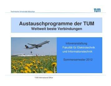 Info - Fakultät für Elektrotechnik und Informationstechnik - TUM