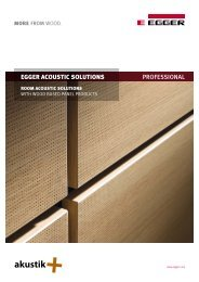 EGGER ACOUSTIC SOLUTIONS PROFESSIONAL