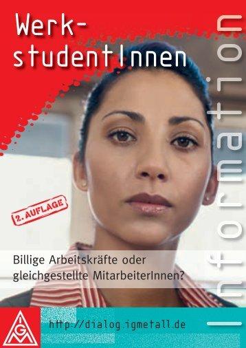 "IG Metall Broschüre ""Werkstudenten"" - hib Freiburg"