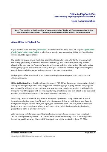 Office to FlipBook Pro User Documentation K & W - FlipPageMaker ...