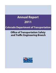 Annual Report 2011 - Colorado Department of Transportation