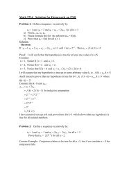 Math 2534 Solution for Homework on PMI