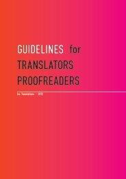 Guidelines for Translators & Proofreaders - v1.1. - ISO Translations ...