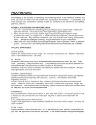 PROOFREADING - Centre for Teaching and Learning - University of ...