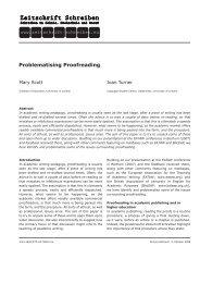Problematising Proofreading - Zeitschrift Schreiben