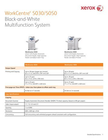 xerox workcentre 5222 detailed specifications top edge rh yumpu com Xerox WorkCentre 5050 Xerox WorkCentre 5050