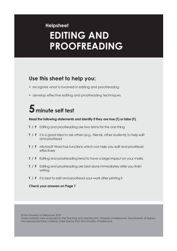 University proofreading