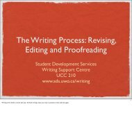 The Writing Process: Revising, Editing and Proofreading - Student ...