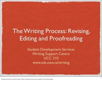 the writing process editing This is the last stage in the writing process and it is important that this step is not rushed through in the mad the writing process: editing author:.