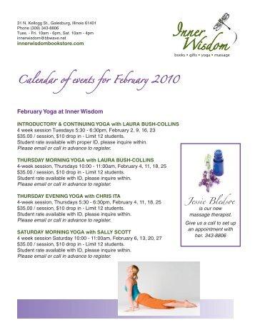 Calendar of events for February 2010 - Inner Wisdom