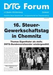 16. Steuer- Gewerkschaftstag in Chemnitz - DSTG-Baden-Württemberg