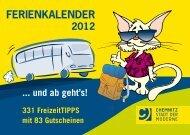 Ferienkalender 2012 - Chemnitz