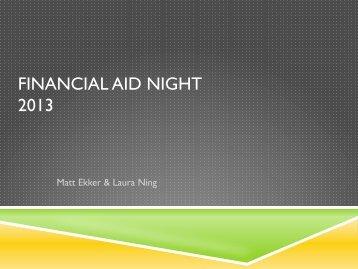 Financial Aid Night 2013.pdf - Itineris Early College High School