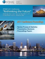 2011 ATMAE Conference Proceedings