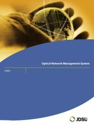 Optical Network Management System - comtec