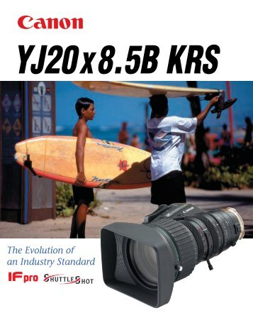 Canon YJ20x8.5B KRS brochure - Creative Video