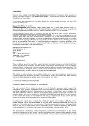 Legal Notice Welcome to the website of the iDetecT4ALL ...