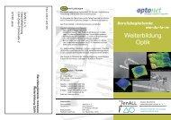 Weiterbildung Optik - JenALL