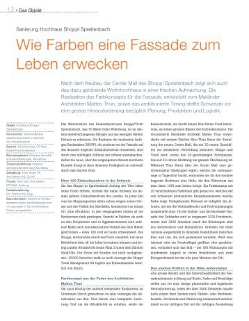 Objektbeschrieb (pdf, 213 KB) - Schweizer Metallbau