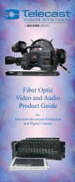 Fiber Optic Video and Audio Product Guide - Telecast Fiber Systems ...