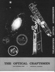 1964 Optical Craftsmen Catalog