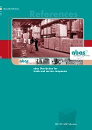 abas Distribution - ABAS Software AG
