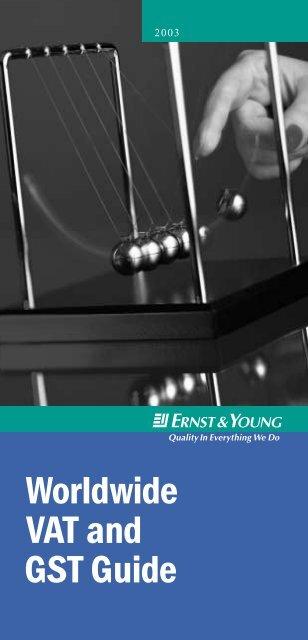 Worldwide VAT and GST Guide - Home - Ernst & Young - Schweiz