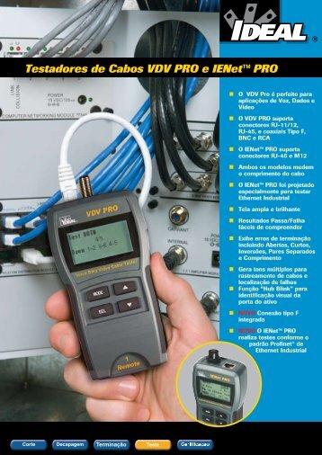 Testadores de Cabos VDV PRO e IENet™ PRO - ideal industries