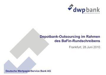 Depotbank - INVESTMENT FORUM